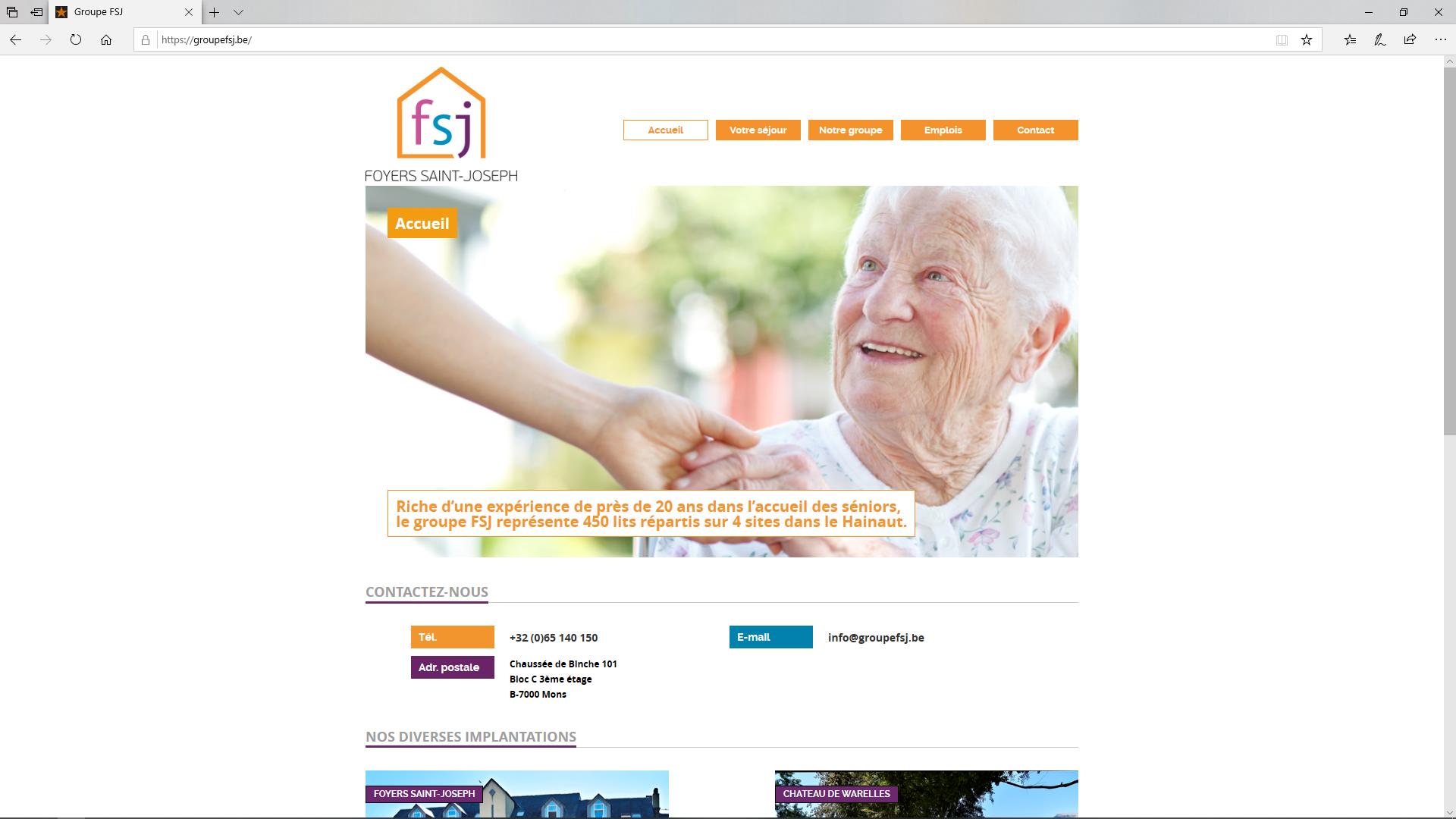 site web pour maison de repos